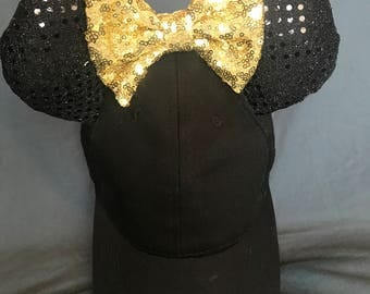 Minnie Mouse Ear Hat - Gold