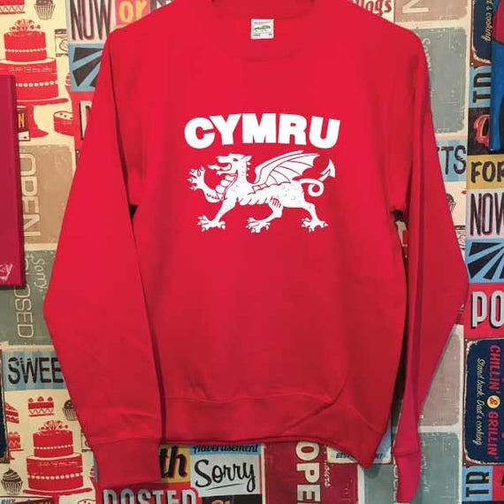 Cymru Dragon Wales Welsh Unisex Sweatshirt. Unisex Quality Sweatshirt Xmas Christmas Present or Gift