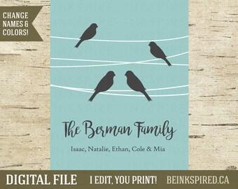Gift for Family, Family Tree Print, Family Art, Family Sign, Personalized Family Tree, Custom Family Tree, Family Tree Sign, DIGITAL FILE