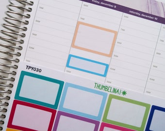Box Stickers for the Hourly Erin Condren Life Planner (TPY030)