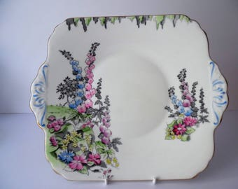 Vintage Sandwich Plate. Bone China Sandwich/cake plate. Foley Bone China Afternoon tea Plate