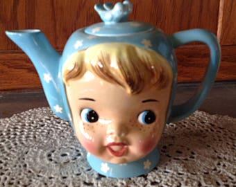 Miss Cutie Pie Vintage Napco Tea Pot/Vintage/1950's