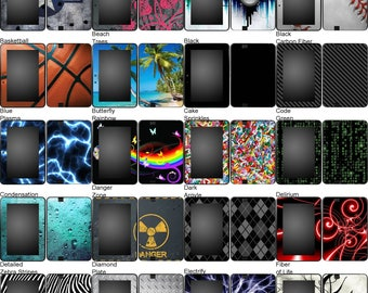 Choose Any 1 Vinyl Decal/Sticker/Skin Design for the Amazon Kindle Fire HD 7