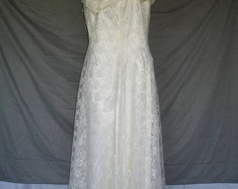 On Sale 1920's Inspired Ivory Lace Wedding Dress Mother of the Bride