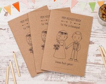 "Wedding coloring book 3 set ""Pretty"" boho-style"