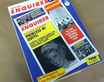 1991 The National Enquirer Magazine Board Game Complete Vintage 1990's Retro Tyco