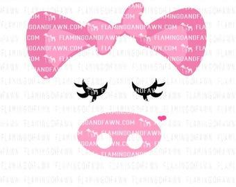 pig face svg, show pig svg, pig dxf, farm svg, wild animal svg, little girl farm svg, baby farm svg, farm shirt svg, piggy svg, cute pig svg