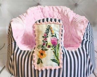 Alphabet Flowers Blush Bumbo Cover