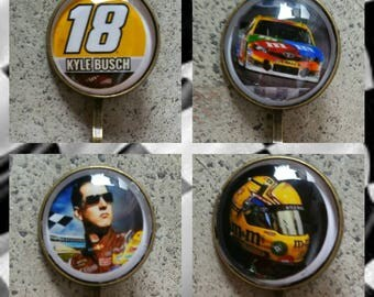 NASCAR #18 set of 4 large hair pin (your choice of image)