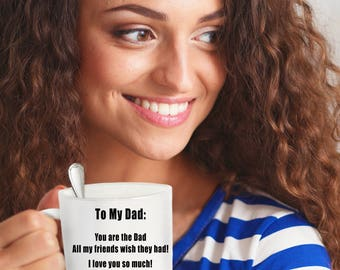 Father's Day Coffee Mug - Your #1 Fan - Sentimental Mug - Ceramic Coffee Mug