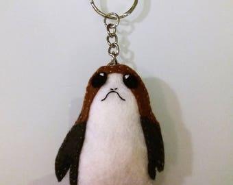 Stuffed Felt Porg Keychain