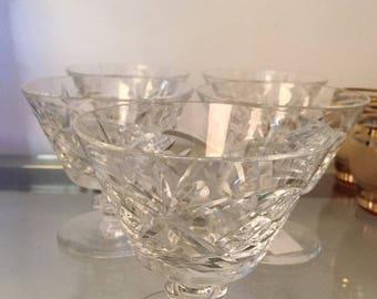 Cut Glass Martini Glass