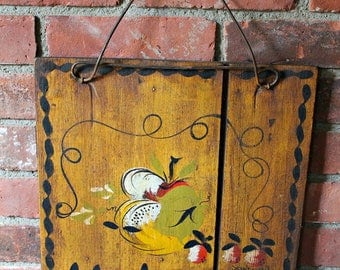 Tole Painted Welcome Sign by Jean Dewey