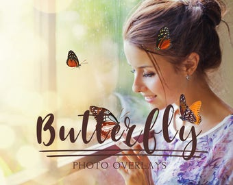 45 Butterfly photo overlays