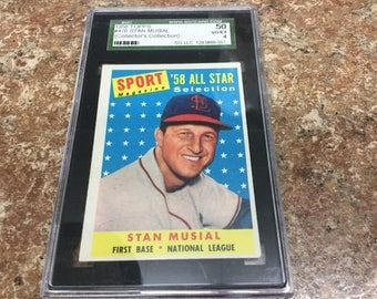 1958 Topp's #476 Stan Musial    Collector's Collection