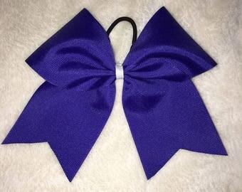 Plain Dark blue cheer bow