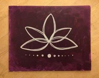 Lotus Yoga Painting Canvas Panel