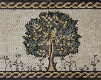 "Tree of Life 36""x24"" Wall Accent Art Decor Marble Mosaic FL391"