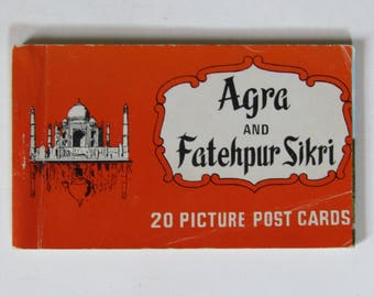 Vintage Agra and Fatehpur Sikri Post Cards-Set of 20
