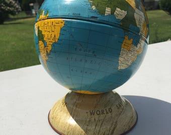 World Savings Bank Globe -1960's Metal Bank