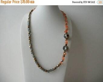 ON SALE Retro 1960s Sparkling Czech Glass Necklace 62317