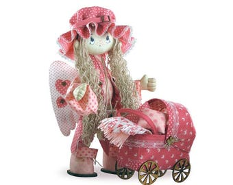 Doll sewing kit  Angel -  Nova Sloboda; Kit to make doll; Girl's birthday gift; Handmade doll;  carcass doll; Textile Doll with stroller