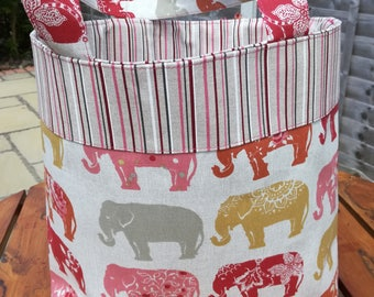 Bag. Tote Bag. Elephants