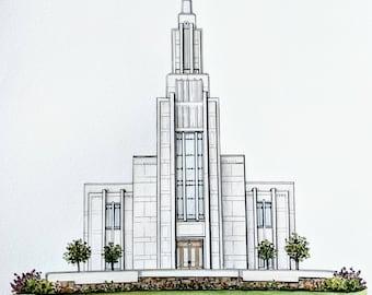 Custom LDS Temple- ORIGINAL