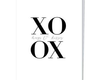 "Greeting Card, ""XO Hugs & Kisses"""