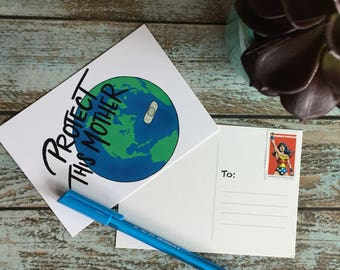 Printable// Climate Change Resistance // Political Post Card // Activism // Mother Earth