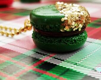 Chocolate Macaron Charm, Glitter Macaron, Fake Sweets, Sweets Deco, Macaron Charm, Planner Charm, Macaron Planner Charm, Christmas Charm