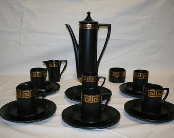 Portmeirion 21 Piece Greek Key Coffee Service By Susan Williams Ellis