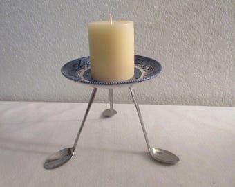 Handmade Spoon Candle Holder