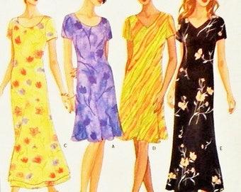 Women's Dress Pattern - Misses'/Misses' Petite Sizes 12, 14, 16 - Butterick 5467 - Fast & Easy Classics Pattern - Uncut Pattern
