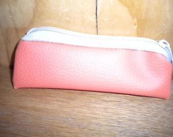 Mini pouch Handmade Leather Orange