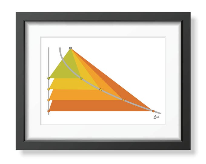 Parabola 04 [mathematical abstract art print, unframed] A4/A3 sizes