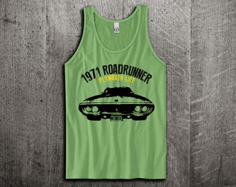 Plymouth Roadrunner Tank Top, Dodge t shirts, Vintage cars shirts, cars tanks, Road Runner t shirts, Classic dodge t shirts, Unisex Tank top