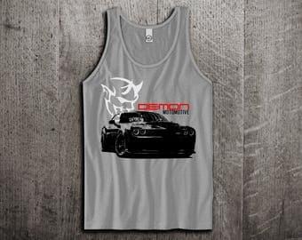 Dodge Challenger Demon Tank Top, Dodge t shirts, Challenger Demon shirts, Dodge shirts, Charger t shirts, men tshirts women t shirts Unisex
