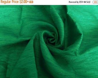 5% off Silk Fabric, Dupioni Silk Fabric, Blend Silk Fabric, Art Silk Fabric, Green Dupioni Silk Fabric
