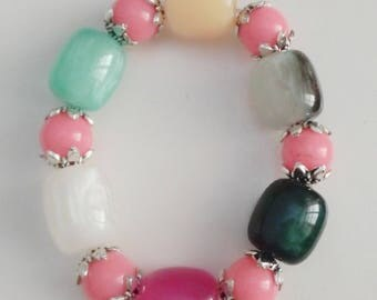 Bracelet colorful accessory pink women