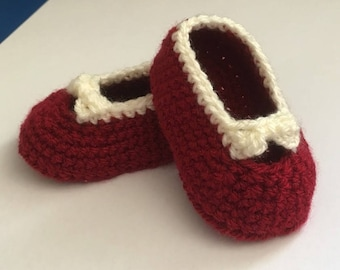 Little Lady Baby Booties - Size 0 to 3 months - Ready to ship