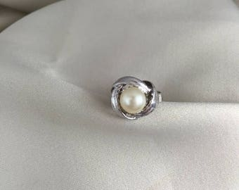 50% Off Summer Sale Majorica Pearl Ring on Sterling silver setting