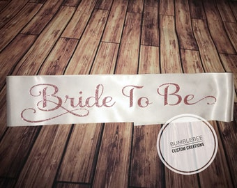 Bridal Party Sash, Bachelorette Sash, Sweet 16 Sash, Satin Sash, Sashes, Party Sashes, Bride To Be Sash