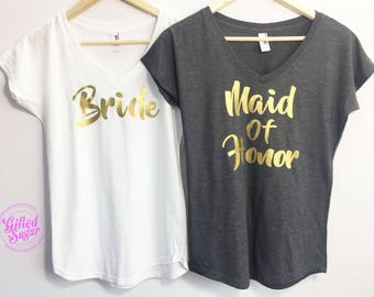 Bride Shirt, Maid of Honor, Bridesmaid Shirt, Bride Gift, Bridesmaid gift, Bachelorette Party Tee, Bachelorette Party Shirt, Wedding Gift