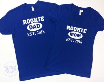 New Mom and Dad, New Parents, Baby Shower Gift, New Baby, Rookie Mom Shirt, Rookie Dad Shirt,