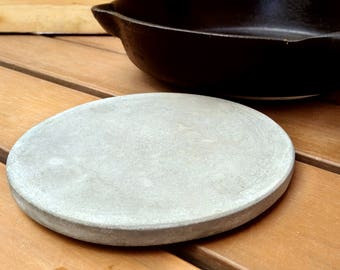 "Table decor - Trivet 8"", Table centerpiece, Hot Pad, Teapot stand, Teapot trivet, Concrete trivet, Table decoration, Pot stand"