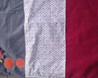 Velvet cotton and fleece baby blanket
