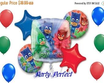 ON SALE 11 Pc PJ Masks Birthday Balloon Bouquet