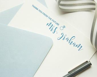 Personalized Stationery // Personalized Stationary // Thank You Note // Custom Stationery // Bridal Stationery // Wedding Stationery