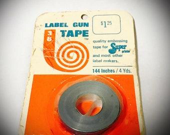 vintage 1968 label maker tape in original package  RARE in package original label gun 38 brand